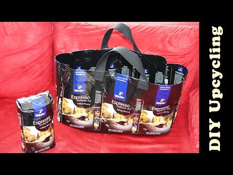 Tasche aus Tchibo – Kaffeeverpackung nähen | Upcycling & DIY