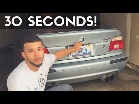 HOW TO Remove and Replace BMW Emblem In Under 30 Seconds! (Hood and Trunk)
