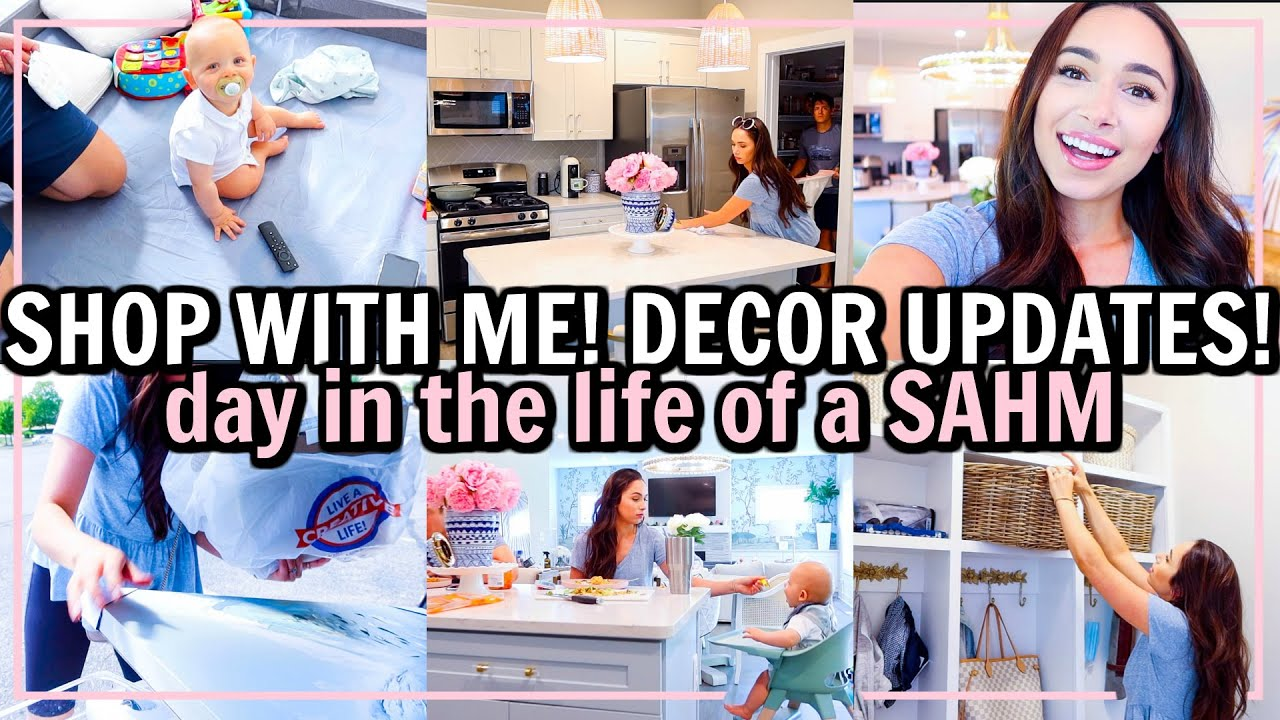 SHOP WITH ME FOR DECOR! BEDROOM MAKEOVER PREP | DAY IN THE LIFE OF A SAHM! | Alexandra Beuter