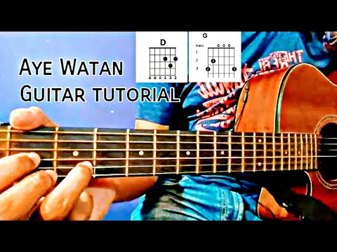 Ae Watan | Raazi | Guitar Tutorial | CHORDS | Arijit Singh | Alia Bhatt | Karaoke link in Video