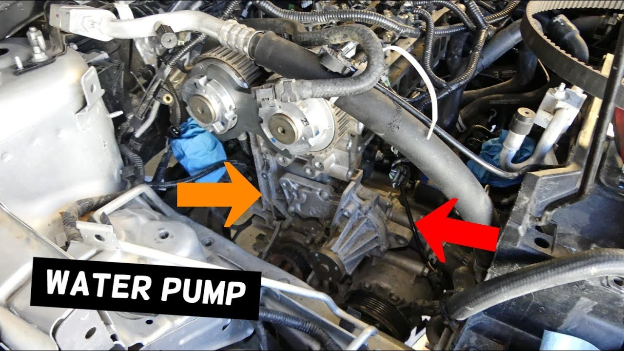 ford fusion escape focus fiesta water pump replacement ecoboost water pump location on 2010 ford fusion get free image about wiring [ 1280 x 720 Pixel ]