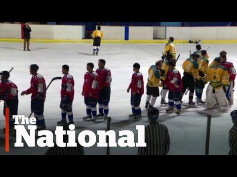 Canadians coach North Korea's hockey team