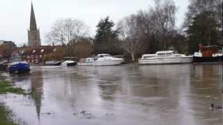 River Thames overflowing its banks at Abingdon Bridge Nov 25 2012