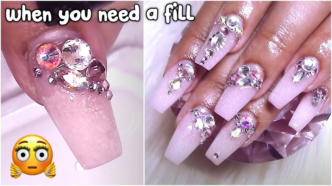 Working over another nail techs work! | Bejeweled Nails