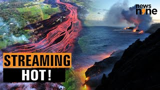 Video shows how red-hot lava wiped out 870 buildings on La Palma Island
