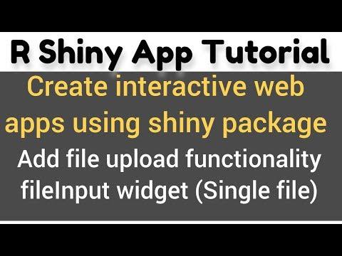 R Shiny App Tutorial # 15 (a)   fileInput widget   how to use