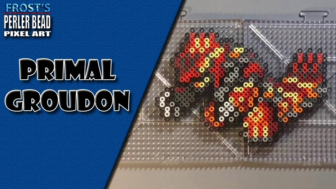 Frosts Entertainment Pokemon Perler Bead Primal Groudon