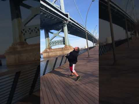 Fat Mike Catches A Marshmallow Thrown From The Top Of The Ben Franklin Bridge