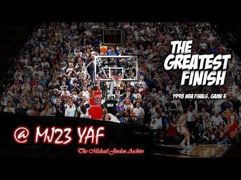 Michael Jordan Last Bull Game Highlights 1998 Finals G6 vs Jazz - 45pts, G.O.A.T.!  (HD 720p 60fps)