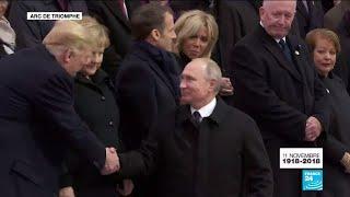 Centenaire de l'Armistice de 1918 : Arrivée de Vladimir Poutine à l'Arc de Triomphe
