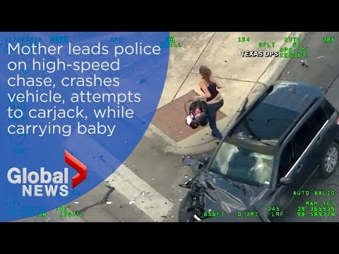 Mother leads police on high-speed chase, crashes car and