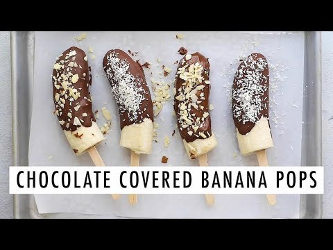 Chocolate Covered Banana Pops