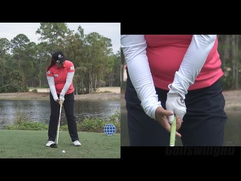 SHANSHAN FENG - DRIVER SWING (HANDS AT IMPACT SLOW MOTION) CME CHAMPIONSHIP TIBURON GOLF COURSE