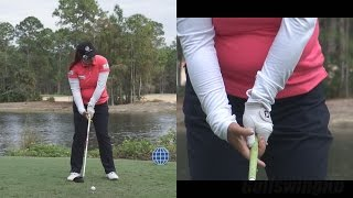 shanshan feng driver swing hands at impact slow motion cme championship tiburon golf course