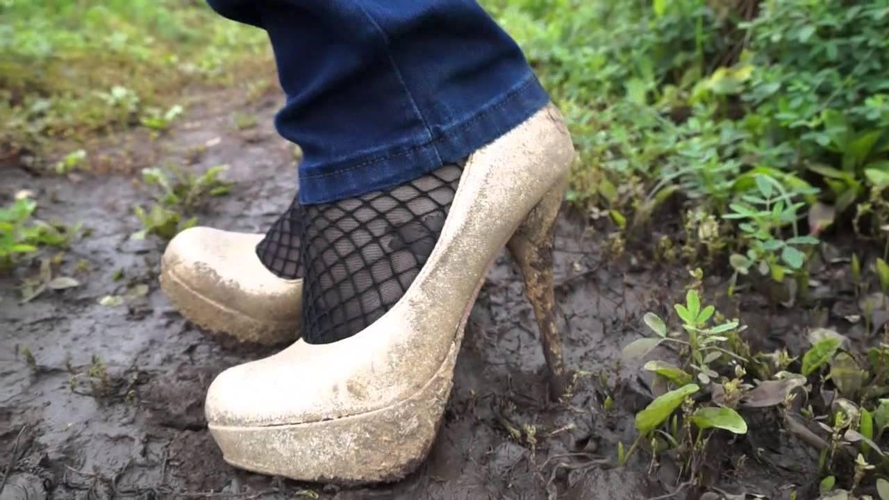 mud heels in mud ground