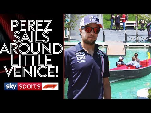 """""""F1 is now a two team Championship""""   Sergio Perez takes a sail around Little Venice"""