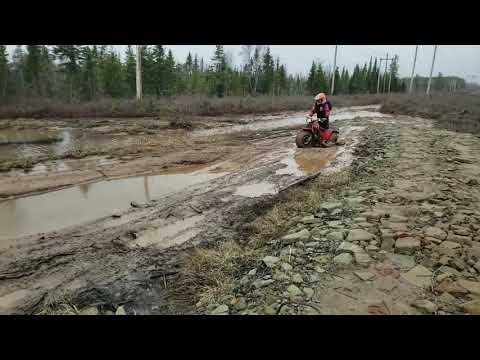 Very Wet Canadian Spring 2019!1984 Honda 200 Big Red and 2017 Arctic Cat VLX 700