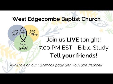 WEBC Wednesday Night Bible Study - 3/25/20
