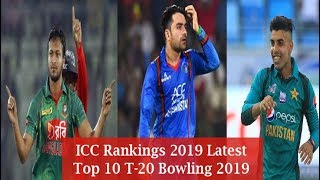 ICC rankings 2019 Latest  Top 10 T 20  Bowling  2019