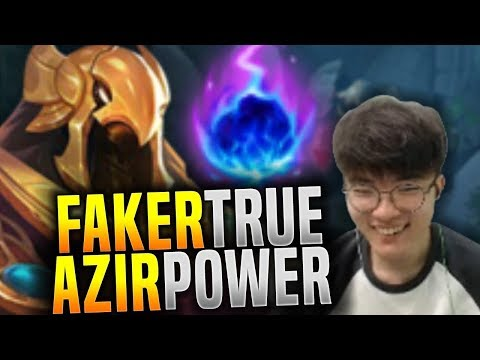 Faker Showing the Power of Azir! - SKT T1 Faker SoloQ Playing Azir Mid! | SKT T1 Replays