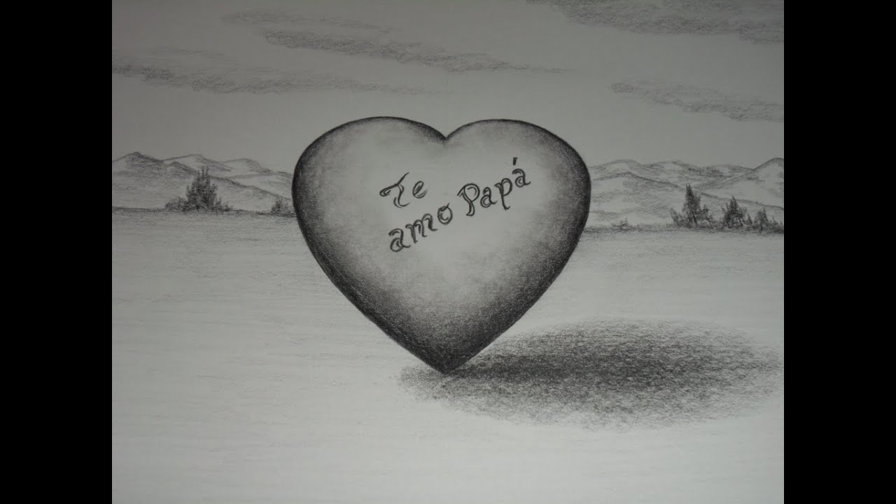 Como dibujar un Gran Corazón para el papá. Paso a paso. - YouTube