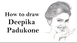 How to draw Deepika Padukone face sketch drawing step by step