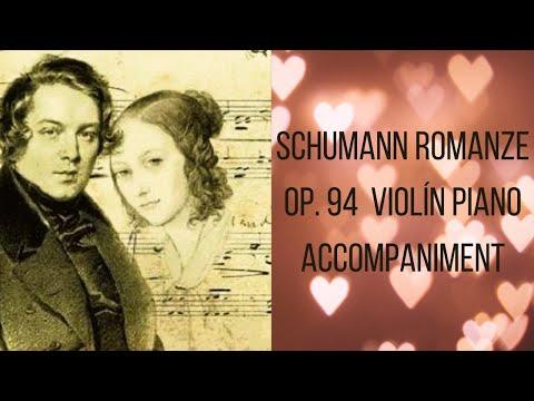 Robert Schumann Romanze Violin Piano accompaniment