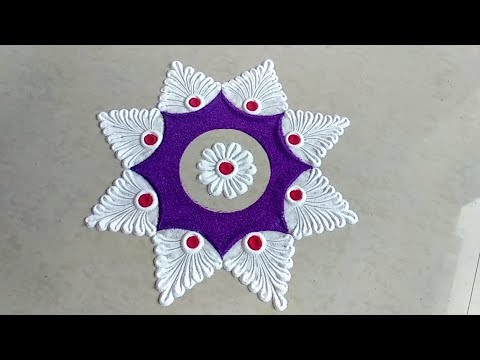 Easy small and quick rangoli