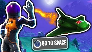 FLYING To The METEOR With NEW SKIN in Fortnite Battle Royale