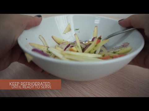 Honey Mustard Chicken Burger with Apple Fennel Salad