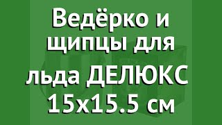 Ведёрко и щипцы для льда ДЕЛЮКС (Koopman Int.) 15х15.5 см обзор A12400310