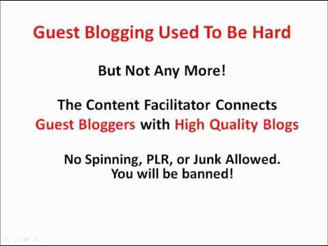 Content Facilitator - Why You Should Be Using Content Facilitator