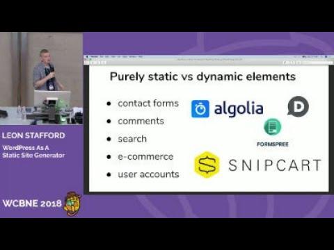 Leon Stafford: WordPress as a Static Site Generator