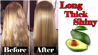 DIY Avocado Hair Mask | Long Thick And Shiny Hair | 100% Natural Home Remedies