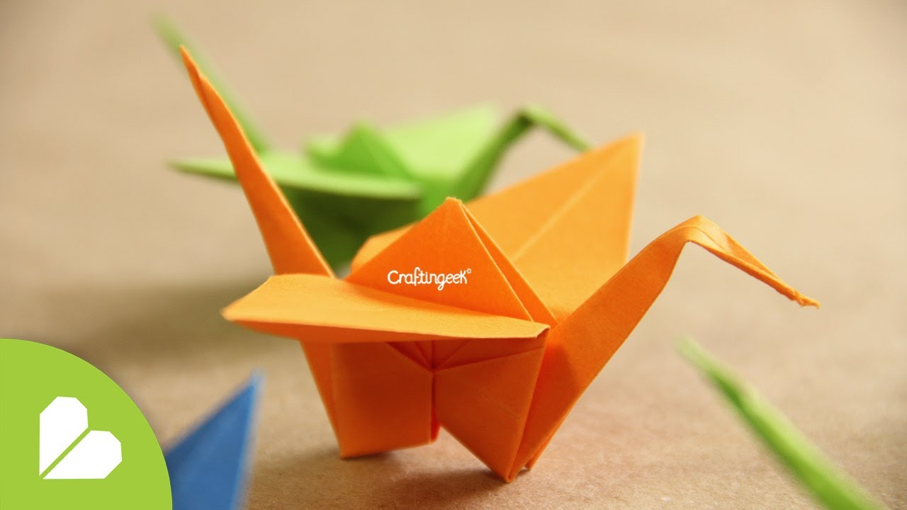 Papercraft Grulla de Origami - ¡Decora tu espacio!  [Origami Crane how to]