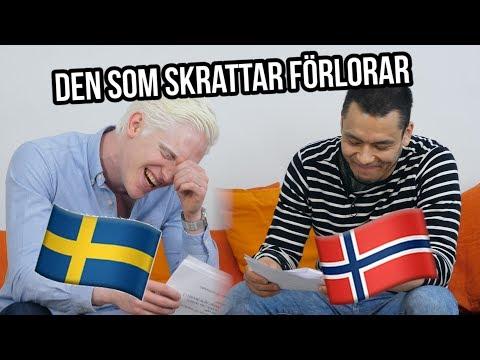 Den som skrattar förlorar - Sverige vs. Norge - Niclas vs. Mario