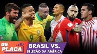 BRASIL X SELEÇÃO DA COPA AMÉRICA - MANO A MANO