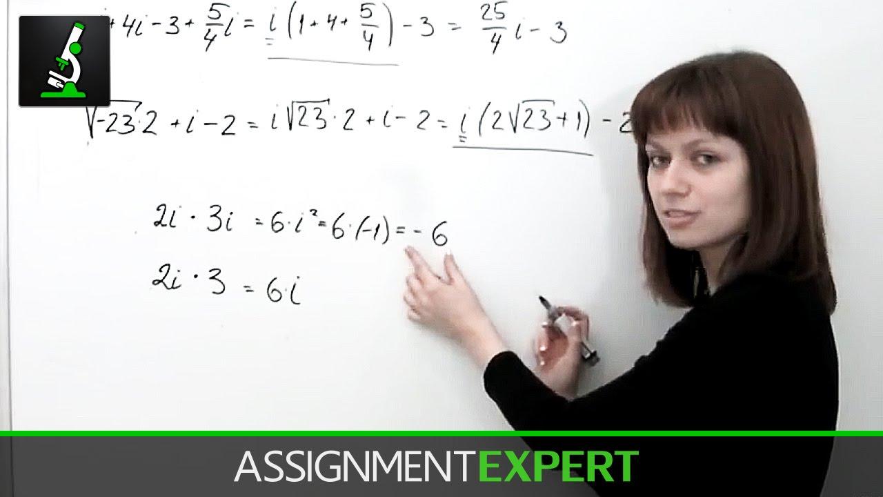 complex numbers part 1 complex numbers part 1 assignment expert