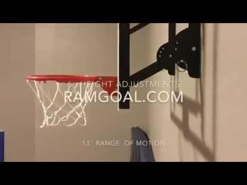 RAMgoal Adjustable mini indoor basketball hoop - YouTube