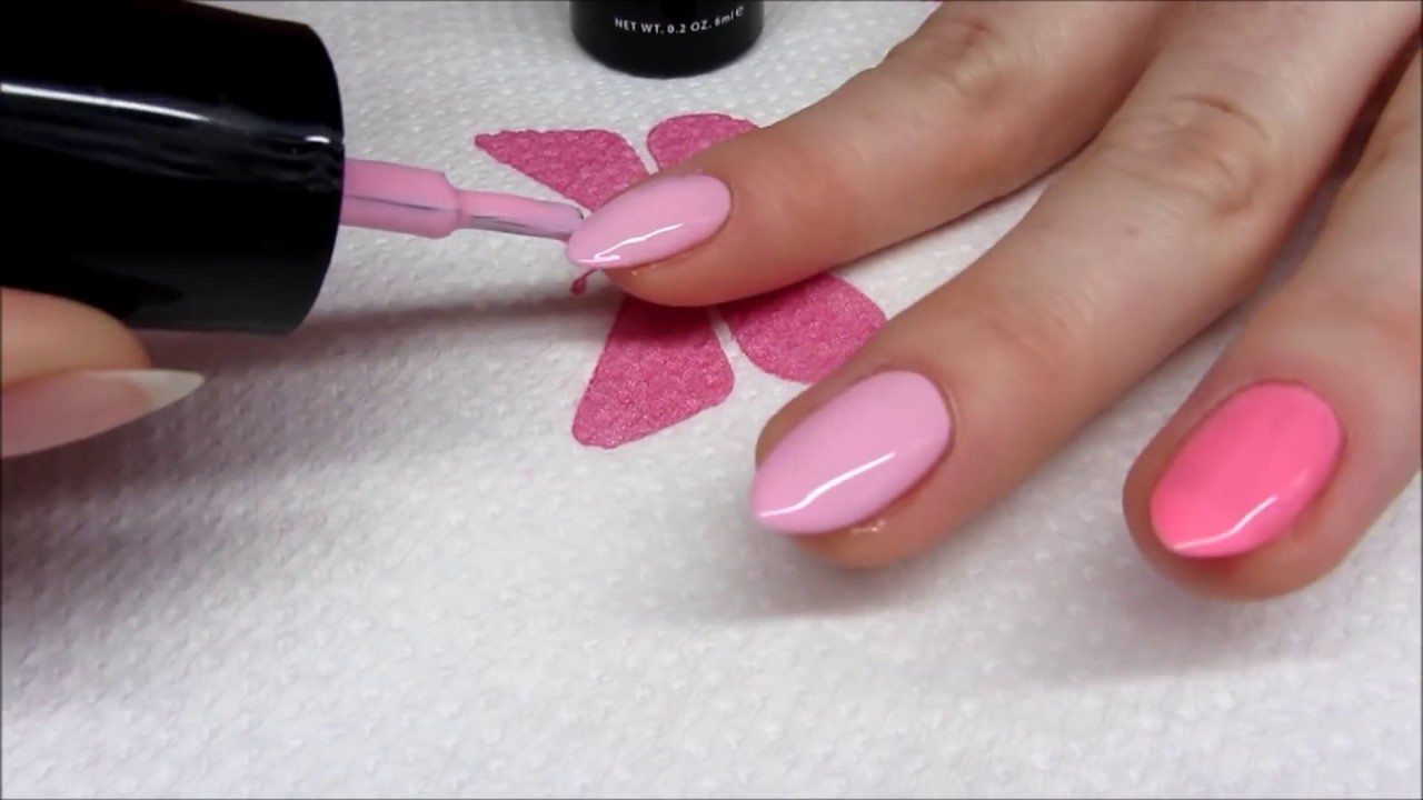Neon Strips Pastel Pink Nails Neonowe Rozowe Paski Na