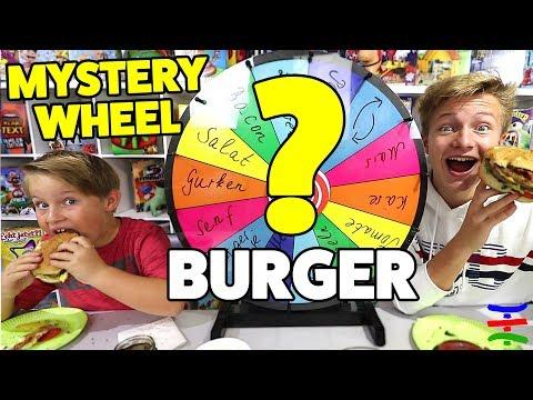 Mystery Wheel Burger Challenge 🍔😁 TipTapTube Family 👨👩👦👦