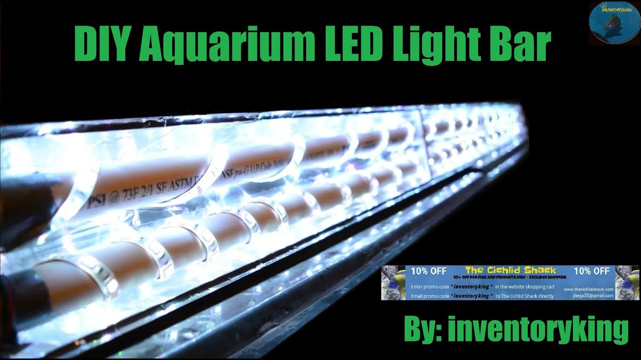 How To Build A Diy Aquarium Led Light Bar Inexpensive