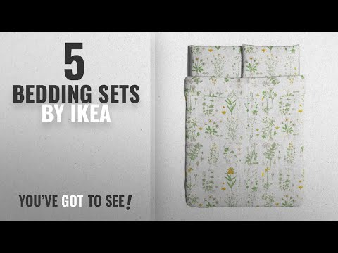 Top 10 Ikea Bedding Sets [2018]: Ikea Strandkrypa Duvet Cover and Pillowcases, Full/Queen, White