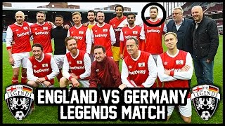 Playing for england at upton park! england vs germany legends match