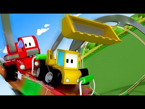 The ROLLER COASTER - Tiny Trucks Cartoon for Children - Toy trucks - Trucks Vehicles Video for Kids