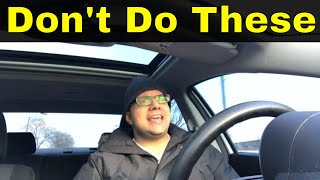 6 Things You Should Not Do On Your Driving Test