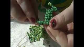 Frog of beads. Лягушка из бисера. Мастер-класс