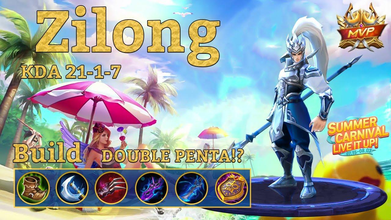 Mobile Legends Zilong Savage Double Penta