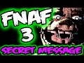 FNAF 3 DECOMPILED | 'FORGIVE ME' Spring Trap's SECRET MESSAGE | Five Nights at Freddy's 3 EXPLAINED