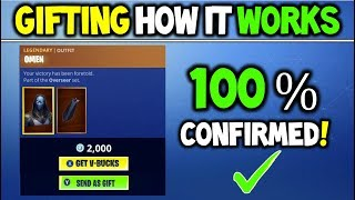 Fortnite Gifting System Features 100% CONFIRMED (YOU CAN'T TRADE ANY SKIN!)
